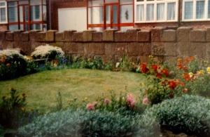 Front garden, spring 1990