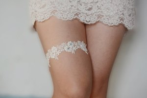 Nowadays, garters are only worn by brides - I don't think my Granny ever had any as pretty as this.
