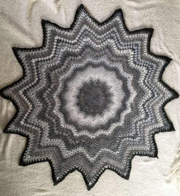 Cobweb shawl